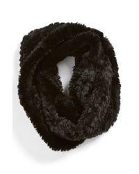 La Fiorentina | Black Faux Fur Infinity Scarf | Lyst
