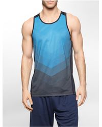 Calvin Klein | Blue White Label Performance Classic Fit Chevron Print Tank Top for Men | Lyst