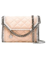 Stella McCartney - Natural Falabella Quilted Faux-Leather Cross-Body Bag - Lyst