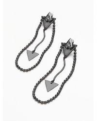 Free People | Gray Womens Tiderays Dangle Earrings | Lyst