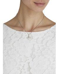 Vivienne Westwood | Metallic Grace Bas Silver Tone Swarovski Necklace | Lyst