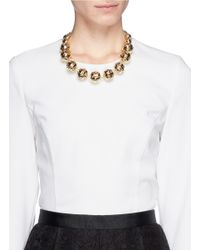 St. John | Metallic Disco Ball Necklace | Lyst