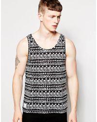Native Youth - Black Geo Print Vest for Men - Lyst