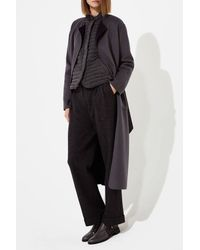 Armani | Gray Reversible Coat In Wool And Cashmere | Lyst