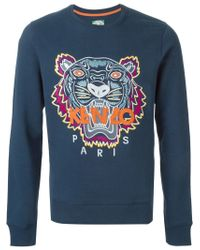 KENZO | Blue 'tiger' Sweatshirt for Men | Lyst