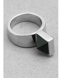 & Other Stories - Metallic Pyramid Stone Ring - Lyst