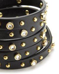 Juicy Couture | Black 5 Wrap Studded Bracelet | Lyst