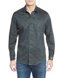 Robert Graham | Black 'kilbride' Digital Print Sport Shirt for Men | Lyst