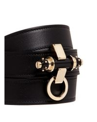 Givenchy - Black 'obsedia' Stud Triple Wrap Leather Bracelet - Lyst