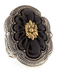 Konstantino | Multicolor Carved Floral Onyx Iris Ring | Lyst