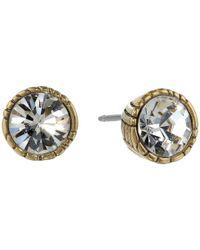 The Sak | Metallic Faceted Stone Stud Earrings | Lyst
