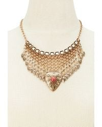 Forever 21 | Metallic Faux Stone Pendant Necklace | Lyst