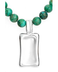 Simon Sebbag - Green Beaded Pendant Necklace - Lyst