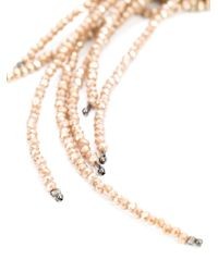 Brunello Cucinelli - Metallic Multiple Rows Of Bead Necklace - Lyst