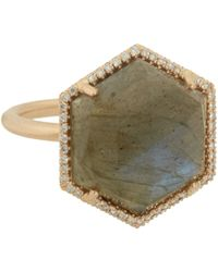 Irene Neuwirth | Pink Mixed-gemstone Hexagonal-faced Ring | Lyst