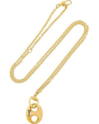 Gucci - Metallic Horsebit 18-karat Gold Necklace - Lyst