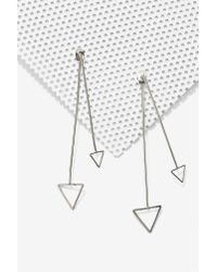 Nasty Gal - Metallic Down 'N Dirty Arrow Jacket Earrings - Lyst