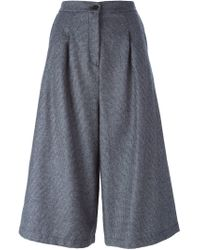 Societe Anonyme - Gray Houndstooth Wide Leg Culottes - Lyst