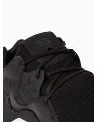 Y-3   Black Qr Run Sneakers   Lyst