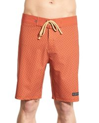 United By Blue - Orange 'stillwater' Board Shorts for Men - Lyst