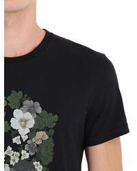 Alexander McQueen | Black Floral Skull T-shirt for Men | Lyst