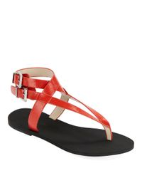 Kenneth Cole | Red Ariel Strappy Sandals | Lyst