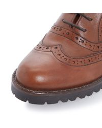 Dune Black | Brown Fawne Leather Brogues | Lyst