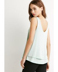 Forever 21 | Green Layered Knit Tank | Lyst