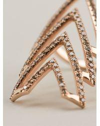 Elise Dray - Pink Triple Arrow Ring - Lyst