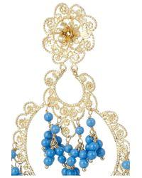 Isharya - Blue Sultana Bali Goldplated Beaded Earrings - Lyst