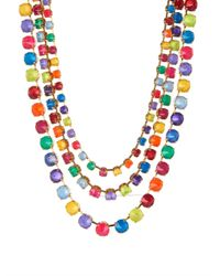Erickson Beamon | Metallic Splash Gold-Plated Crystal Necklace | Lyst