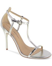 Chinese Laundry | Metallic Leo T-strap Dress Sandals | Lyst