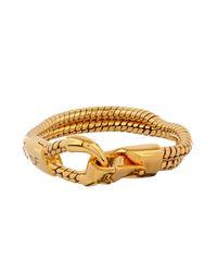 Diane von Furstenberg | Metallic Snake-Chain Gold-Plated Bracelet | Lyst