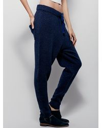 Free People - Blue Catch Me Cozy Swit Pant - Lyst