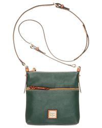 Dooney & Bourke | Green Pebble Letter Carrier | Lyst