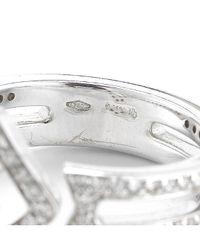 BVLGARI - Metallic Pre-owned Enigma 18kw Diamond Arrow Ring - Lyst