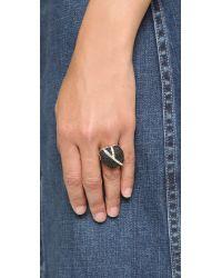 Sam Edelman | Pave Nugget Ring - Black/gold | Lyst