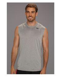 Nike | Gray Dri-Fit™ Legend Sleeveless Training Shirt for Men | Lyst