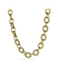 David Yurman | Metallic Oval Extra-large Link Necklace In Gold | Lyst