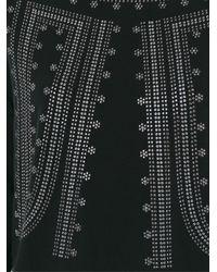MICHAEL Michael Kors - Black Embellished Blouse - Lyst