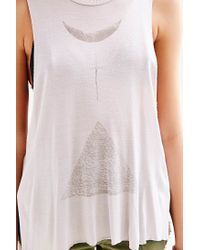 Truly Madly Deeply - Metallic Extreme High/Low Muscle Tee - Lyst
