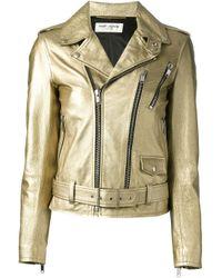 Saint Laurent - Metallic Classic Biker Jacket - Lyst