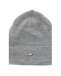 Obey | Gray Surplus Beanie for Men | Lyst