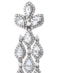 Bochic - Diamond And White Sapphire Long Cascade Earrings - Lyst