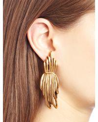 Oscar de la Renta | Metallic Russian Gold Curve Earrings | Lyst