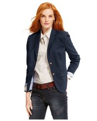 Tommy Hilfiger | Blue Two-button Blazer | Lyst