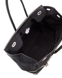 Ralph Lauren - Black Ricky 40 Large Calfskin Satchel Bag - Lyst
