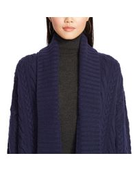 Polo Ralph Lauren | Blue Cabled Wool-cashmere Cardigan | Lyst