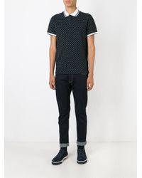 Armani Jeans   Black Small Logo Print Polo Shirt for Men   Lyst
