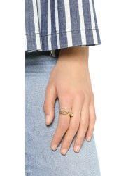 Snash Jewelry | Metallic New York Ring - Gold | Lyst